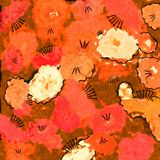 Messy Poppy Flower Painting Stock Images