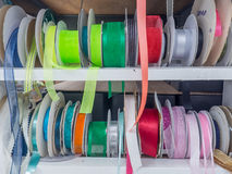 Messy Rack Colored Ribbon Stock Photography