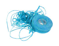 Messy roll of dental floss Stock Photo