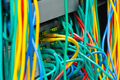 Messy router connections Stock Images