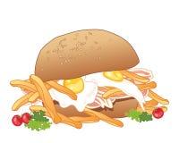 Messy sandwich Stock Photography