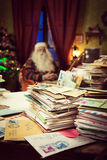 Messy Santa Claus desk Stock Images