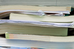 Messy school books Stock Photography