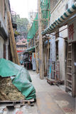 a Messy side alley in hong kong Stock Photo