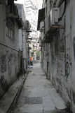 Messy side alley in hong kong Stock Photos