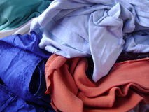 Messy silk clothing background Royalty Free Stock Photos