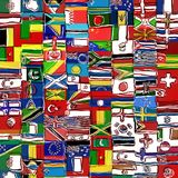 Messy Sketchy World Flag Montage Stock Photo