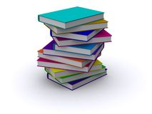 Messy stack of books. 3d render of a messy stack of books Stock Photography