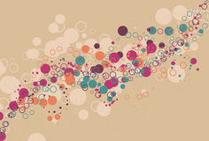 Messy swirling abstract circle bubble background. Messy swirling and flowing abstract circle bubble background. Each type of circle is on its own layer and Royalty Free Stock Image