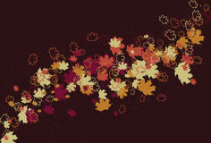 Messy swirling abstract fall leaf background Royalty Free Stock Photos