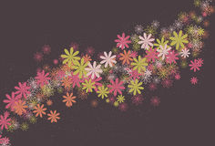 Messy swirling abstract flower background stock illustration