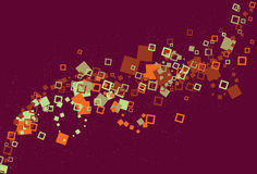 Messy swirling abstract square background vector illustration