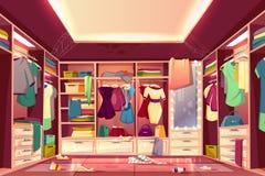 Messy Walk In Closet Interior Cartoon Vector Stock Photos