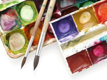 Messy watercolors Stock Image