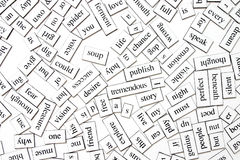Messy words Stock Photos