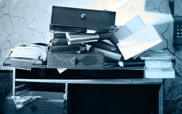 Messy workplace Stock Photos
