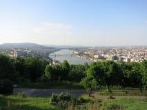mest ฺBudapest stadslandskapsikt Royaltyfri Foto
