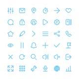 Mest användbar rengöringsduk och mobila symboler för manöverenheter Arkivfoton