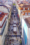 Mest berömd gata i Lissabon - Augusta Street - LISSABONET - PORTUGAL - JUNI 17, 2017 Royaltyfria Foton