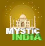 mest berömd världsgränsmärke Vektorillustration av Taj Mahal vektor illustrationer