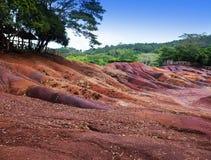 Mest berömt turist- ställe av Mauritius - jord av sju färger Royaltyfria Bilder