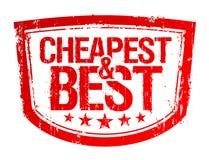 Mest billig och bäst stämpel. Arkivfoto