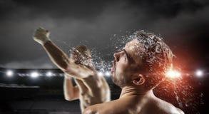 Mest bra ögonblick för askmatch Blandat massmedia Royaltyfri Bild