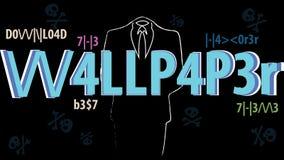 Mest bra anonym en hackertapet - Ord för språk L337 också vektor för coreldrawillustration Customizable EPS 10 vektor illustrationer