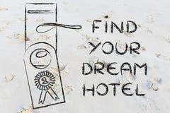 Mest bra avtal för nummer ett: finna det perfekta hotellet Arkivbilder