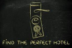 Mest bra avtal för nummer ett: finna det perfekta hotellet Fotografering för Bildbyråer
