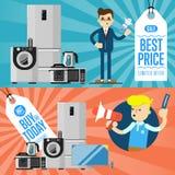Mest bra bända och köp i dag reklamblad Arkivfoto