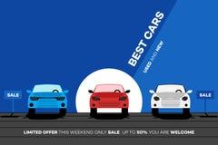 Mest bra bilar i staden Vektorillustration för hyra eller handelsföretag Royaltyfri Foto