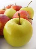 Mest bra blandade äpplefruktbilder för att förpacka och speciala serier 1 för fruktsaftpackar Arkivbild