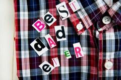 Mest bra bokstäver och skjorta för farsa någonsin Royaltyfri Bild