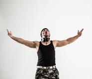 Mest bra dans för rapparedansavbrott Foto på en vit bakgrund Arkivbild