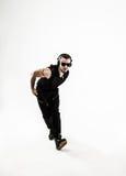 Mest bra dans för rapparedansavbrott Foto på en vit bakgrund Arkivbilder