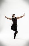 Mest bra dans för rapparedansavbrott Foto på en vit bakgrund Fotografering för Bildbyråer