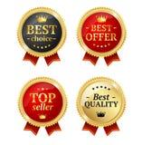 Mest bra erbjudande- eller för valSale etikett medaljuppsättning vektor royaltyfri illustrationer