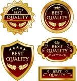 Mest bra för guldmedaljetikett för kvalitets- garanti samling Royaltyfri Illustrationer