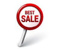 Mest bra försäljningsstift stock illustrationer