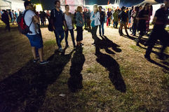 Mest bra Festfestivalfolkmassa arkivfoton