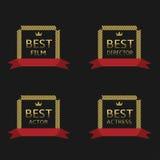 Mest bra filmutmärkelse Arkivfoton