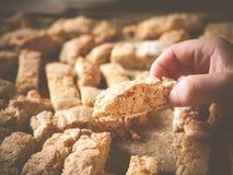 Mest bra hemlagad biscotti någonsin Royaltyfri Foto