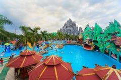 Mest bra i södra Vietnam vatten och nöjesfältet Suoi Tien Arkivbilder