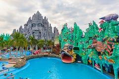 Mest bra i södra Vietnam vatten och nöjesfältet Suoi Tien Arkivfoton