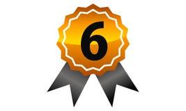 Mest bra kvalitets- nummer 6 för emblem Fotografering för Bildbyråer
