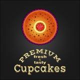 Mest bra muffin för söt och smaklig läcker mat Arkivbild