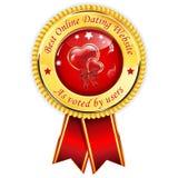 Mest bra online-datummärkningwebsite - som röstad av användare royaltyfri illustrationer