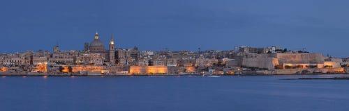 Mest bra panoramasikt av La Valletta, Malta Arkivfoto