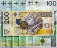 Mest bra polsk valuta Arkivbild